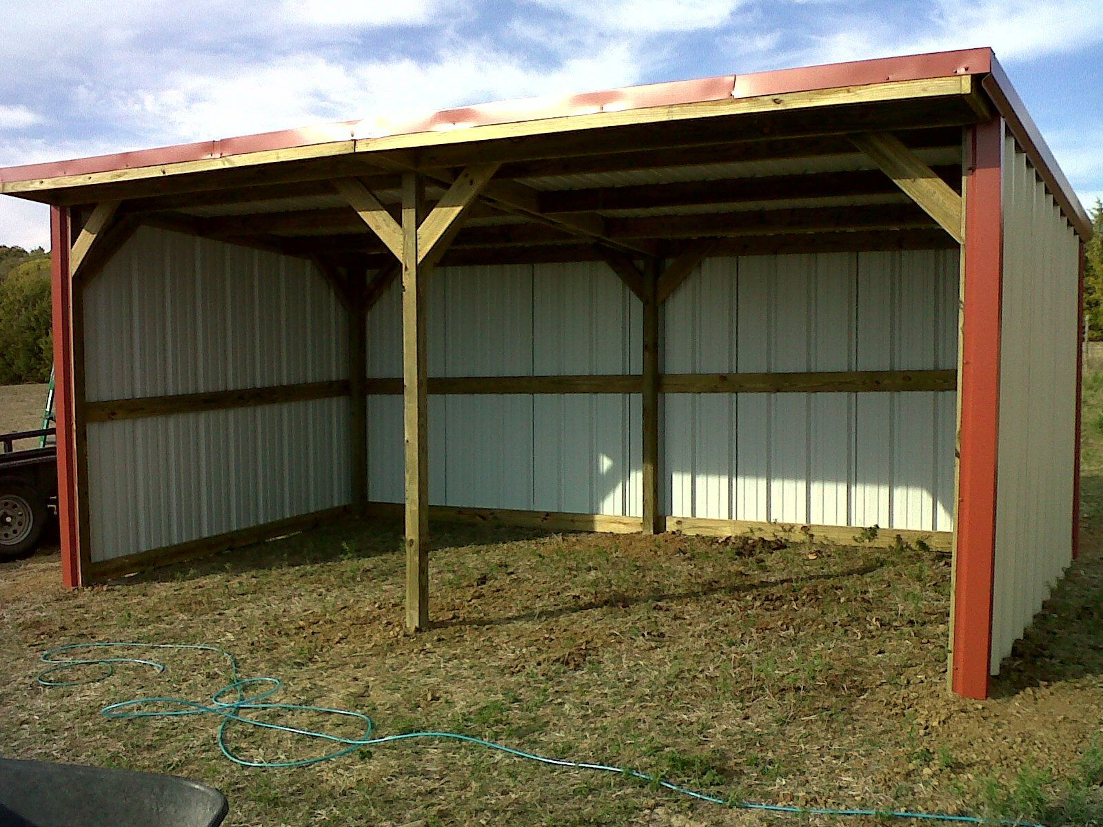 10x20 loafing shed farm buildings pinterest barn for Horse shed