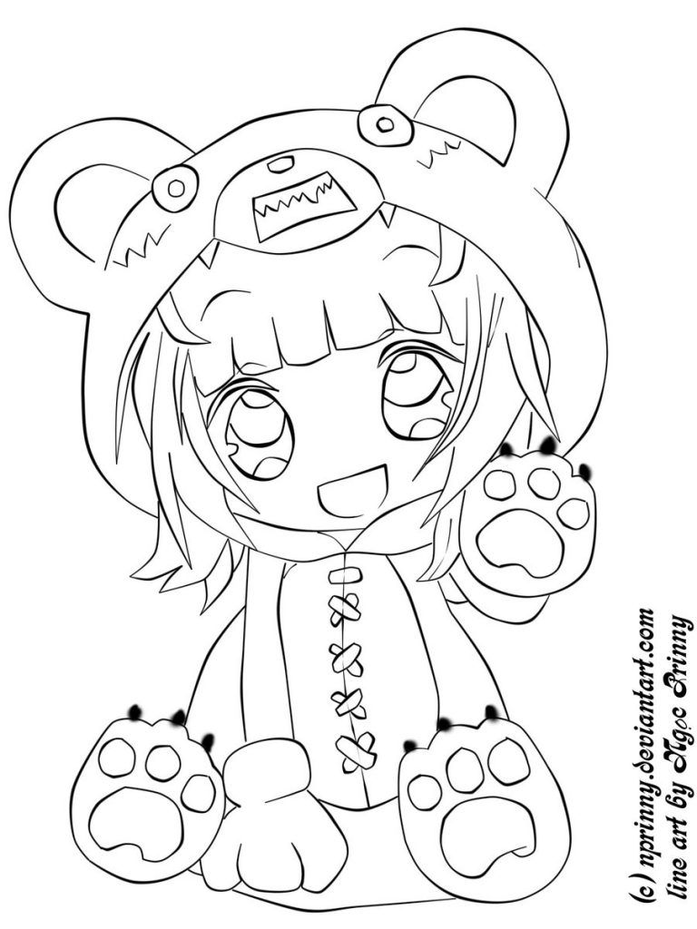 Chibi Pictures To Color Inside Cute Anime Coloring Pages | Drawing ...