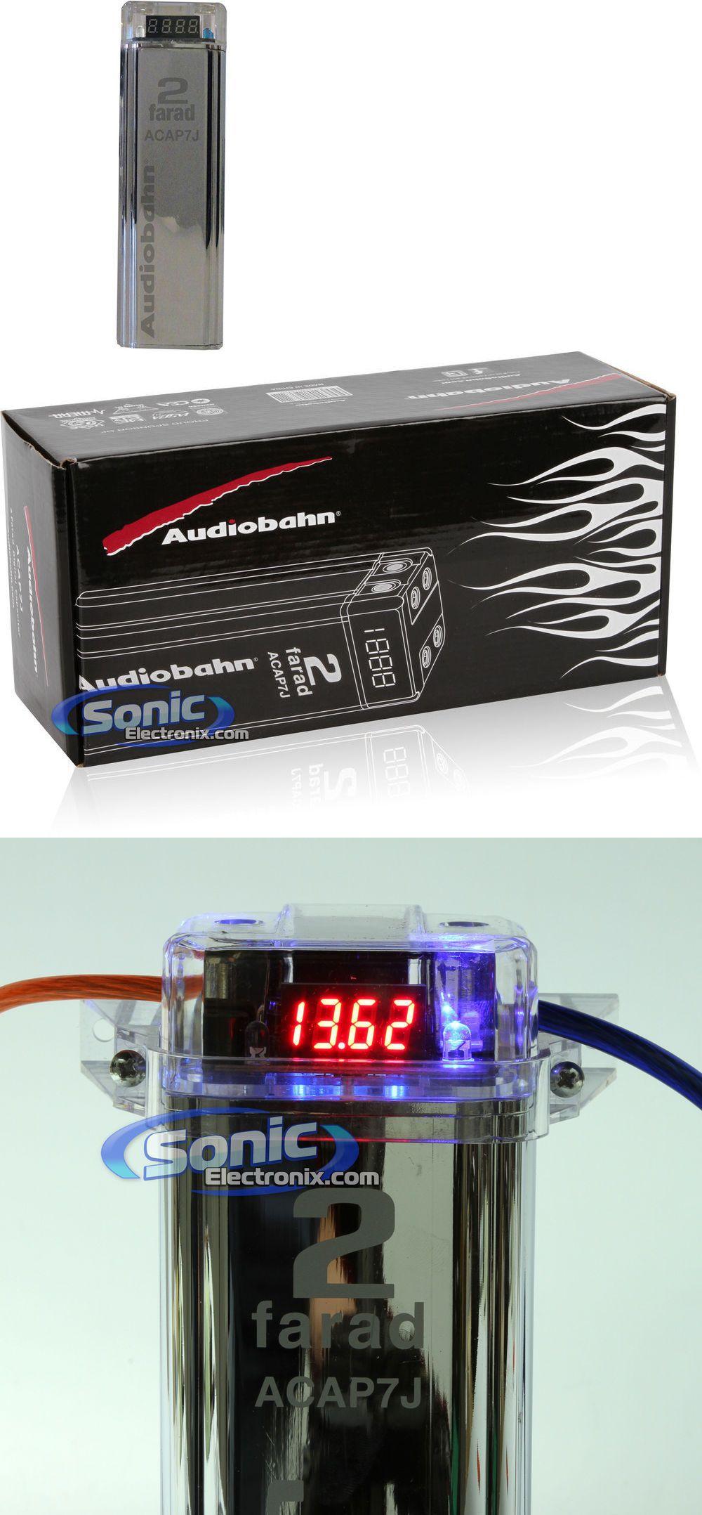 Capacitors Acap7j Audiobahn Car Audio Chrome Cap 2 Farad