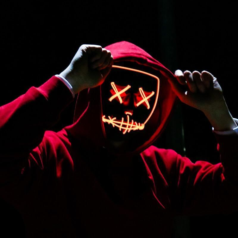 Halloween Led Light Up Mask Best Face Products Best Face Mask Neon Wallpaper