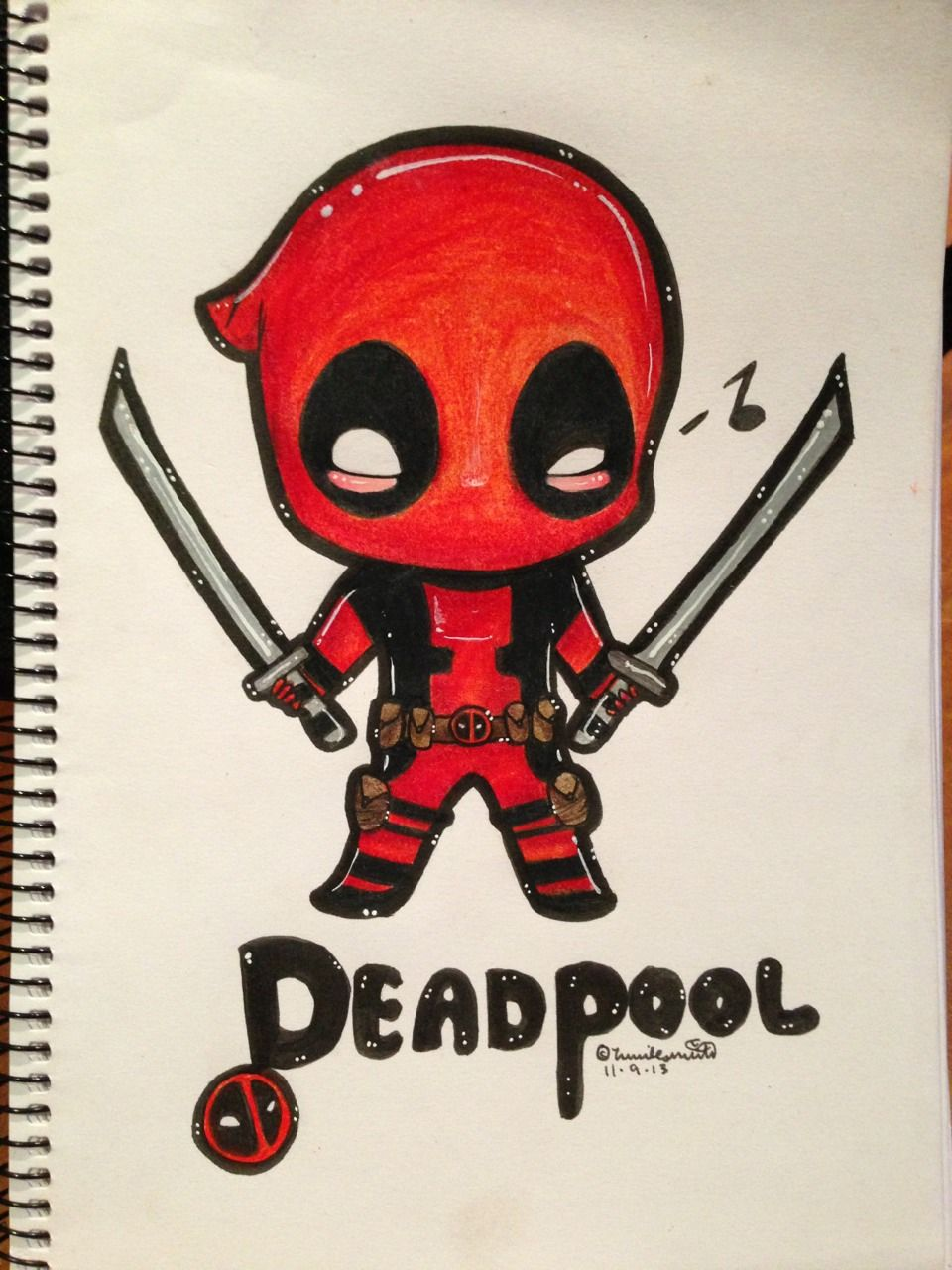 Spiderman X Deadpool Tyler Inks Deadpool Chibi Chibi