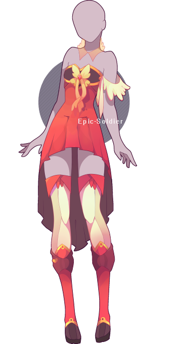 Character Design Dress Up : Outfit adoptable closed by epic soldier on