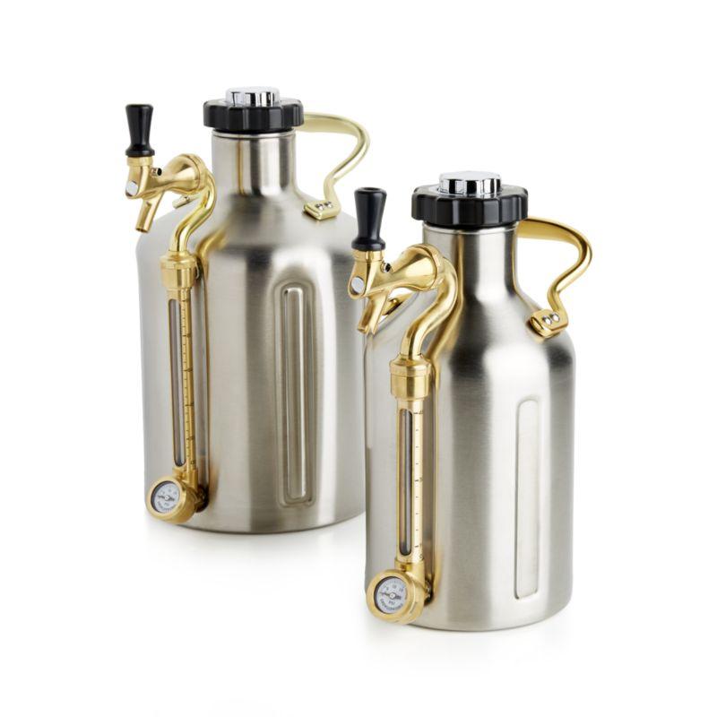 Growlerwerks Pressurized Growler 128 Oz Ukeg Crate Barrel Carbonated Drinks Bottle