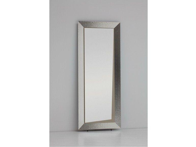 espejo de pie de estilo moderno con marco con luces integradas miir by sovet italia