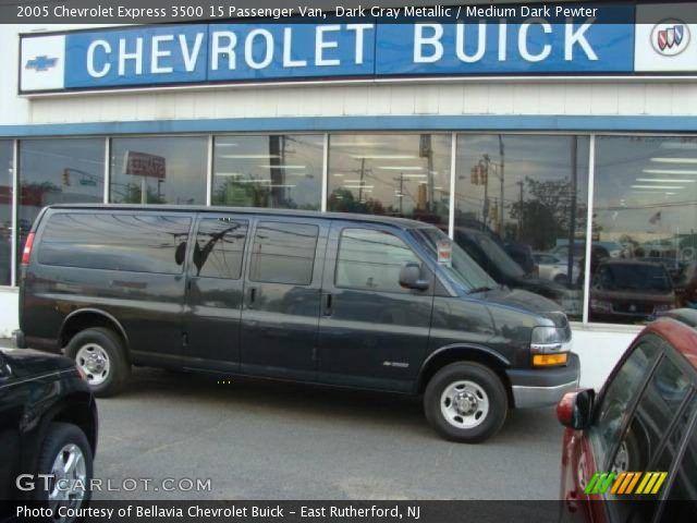 Chevy 15 Passenger Van Dark Gray Metallic 2005 Chevrolet Express