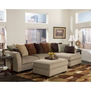Signature Design By Ashley Laken Mocha Sectional With Right Chaise   Del  Sol Furniture   Sofa Sectional Phoenix, Glendale, Tempe, Scottsdale, Arizona