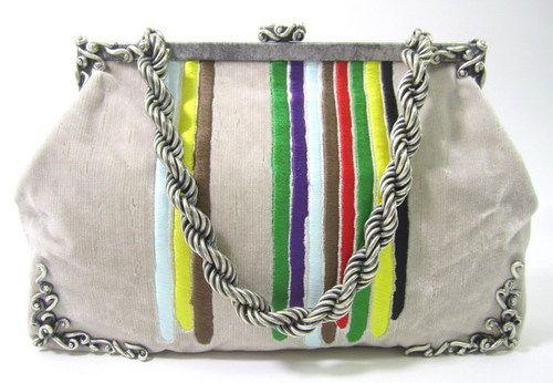 AUTH BOTTEGA VENETA Beige Limited Edition Lavorazione Fatta A Mano Handbag BUY NOW @ www.ShopLindasStuff.com