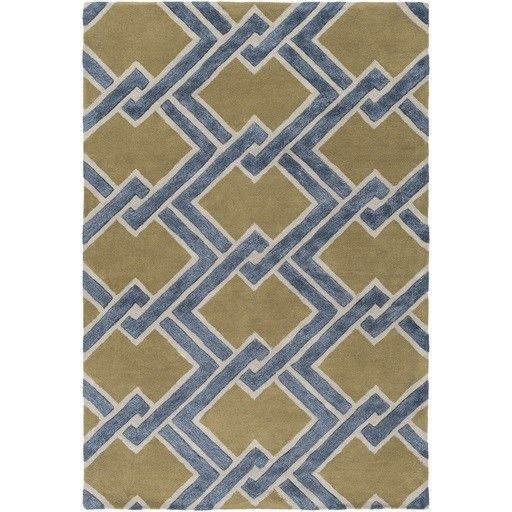 Chamber Hand-Tufted Green/Gray Area Rug
