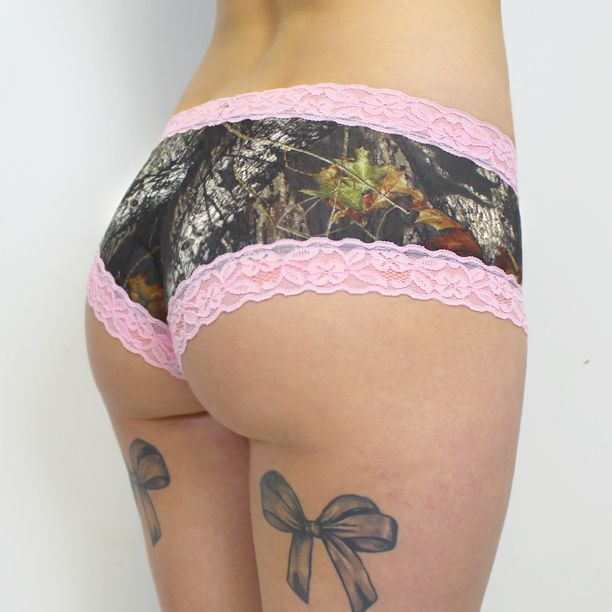 Mossy Oak Boy Short Panties ( pink lace ) - Thumbnail 1 | Knickers ...