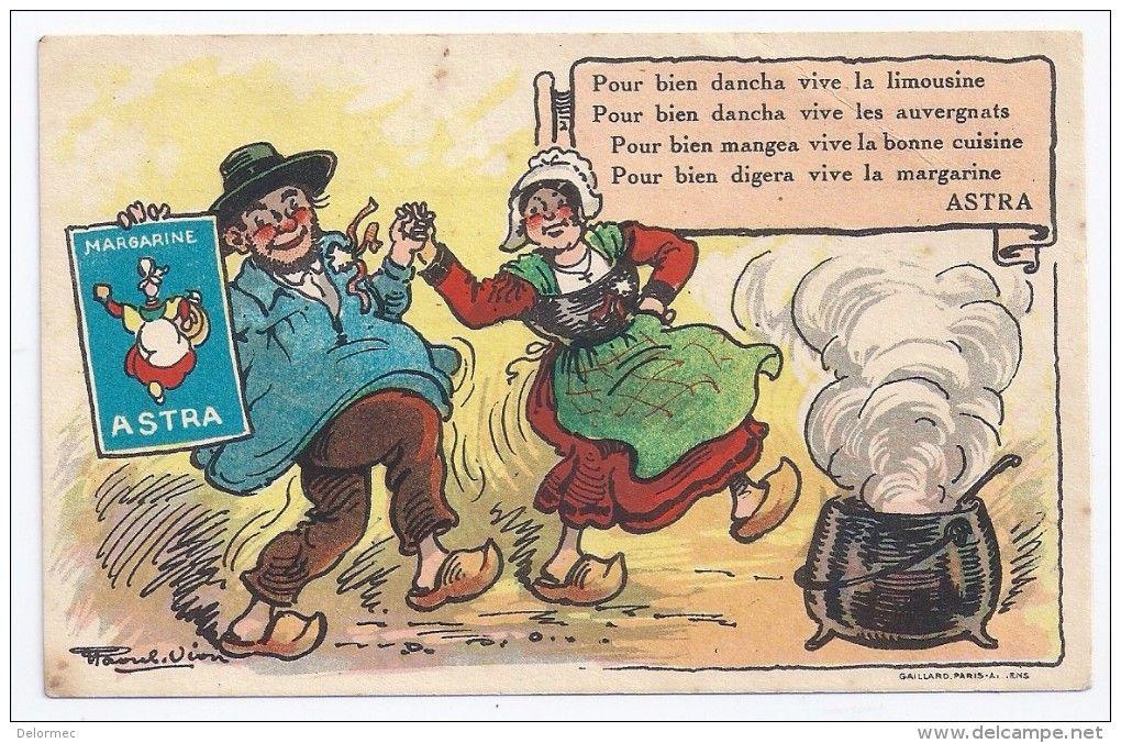CPSM publicité illustrée Pub margarine Astra illustrateur Raoul ...