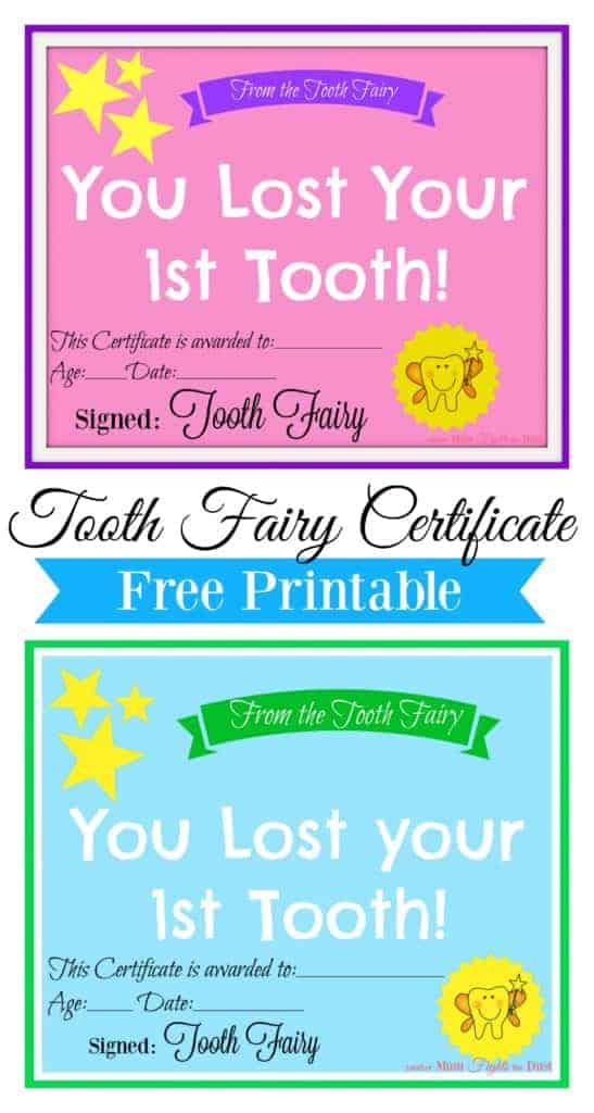 Free Printable Tooth Fairy Certificate Another Mum Fights The Dust Tooth Fairy Certificate Tooth Fairy Gifts Tooth Fairy