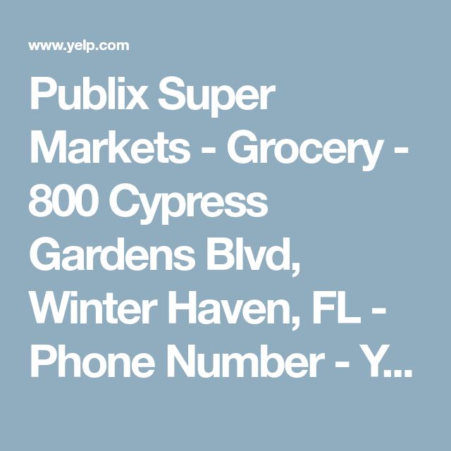 70bfe5b65fde6c4862136ce1a01945e9 - Publix Cypress Gardens Blvd Winter Haven Fl
