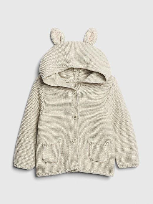 956329fc6 Gap Babies  Bunny Garter Hoodie Sweater Light Heather Gray in 2019 ...