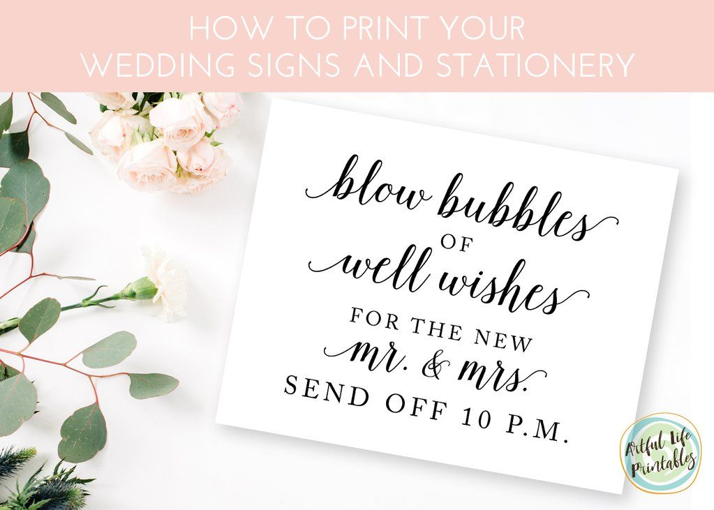 How To Print Your Wedding Signs And Stationery Printables Sign Templates Diy