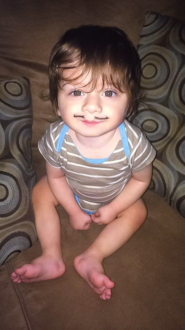 Baby with a mustache