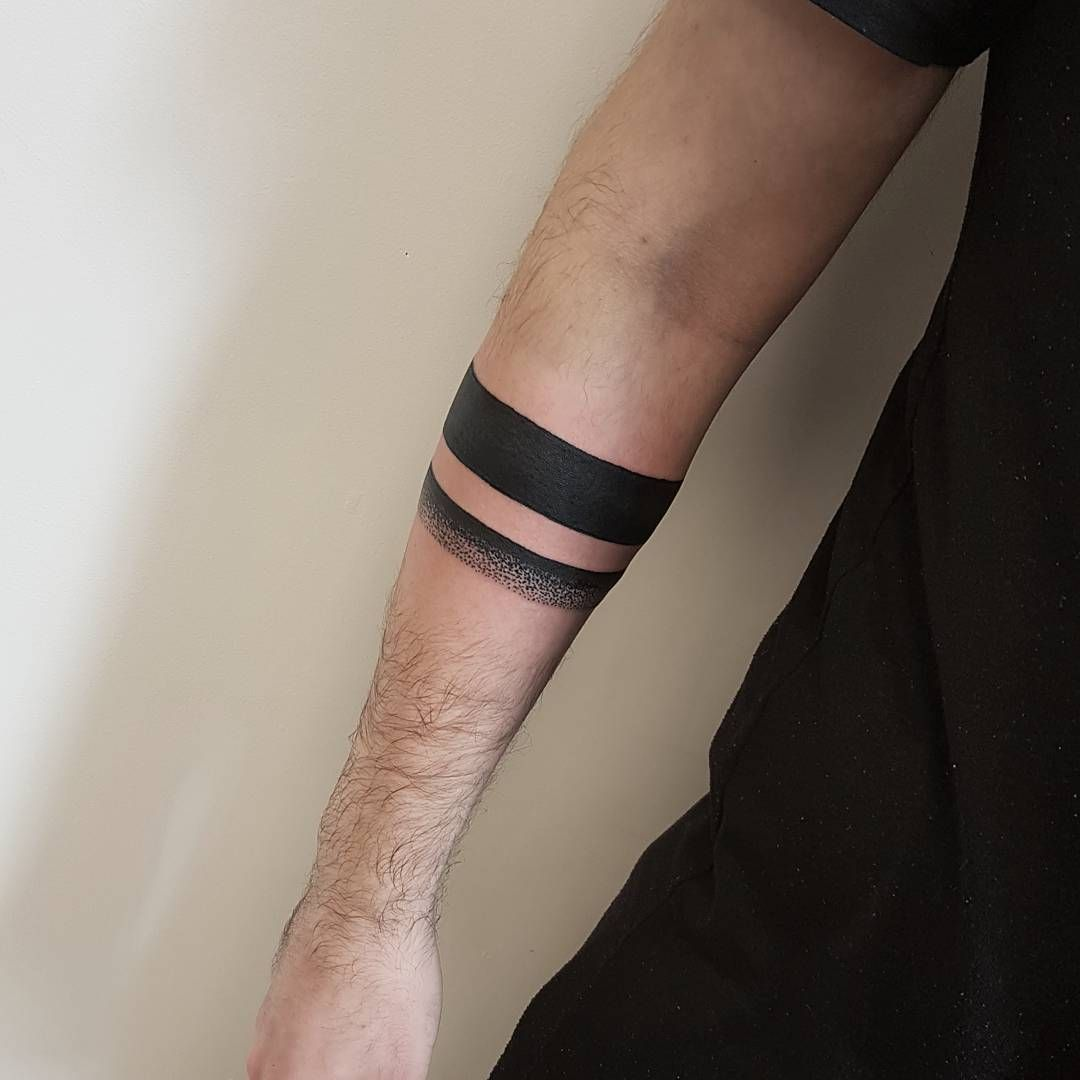 Solid Black Armband Tattoo