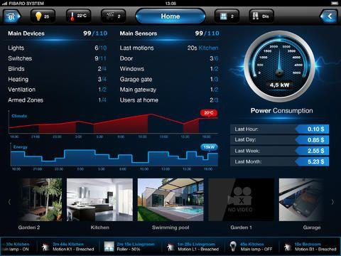 Application ipad pour la box domotique fibaro home center for Application miroir pour ipad