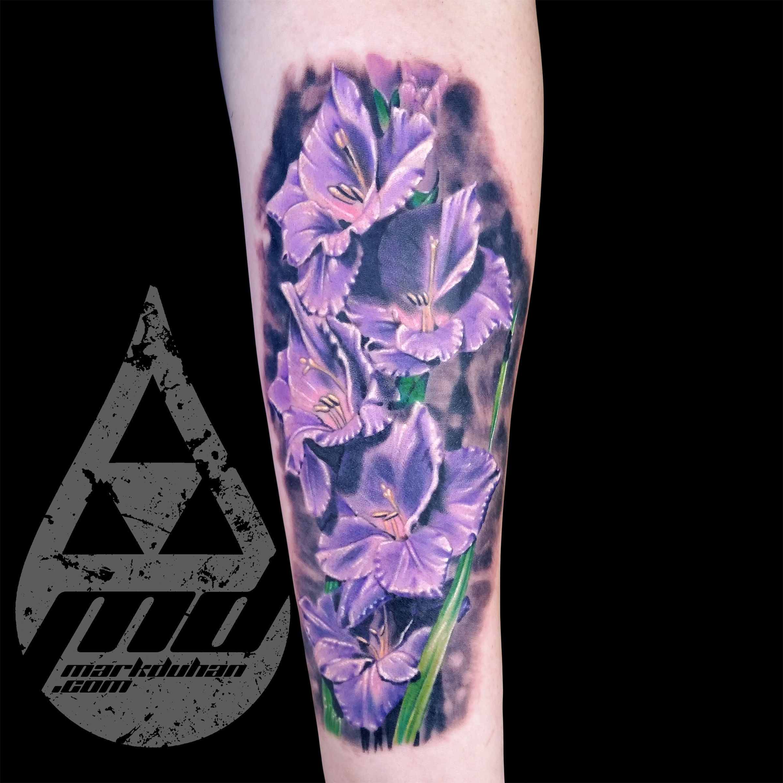 Gladiolus Tattoo By Mark Duhan Birth Flower Tattoos Gladiolus