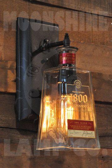 Lámpara de pared de Tequila 1800 Reposado por MoonshineLamp en Etsy