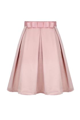 pink bow high waisted midi skirt | Long pink skirt, Fashion