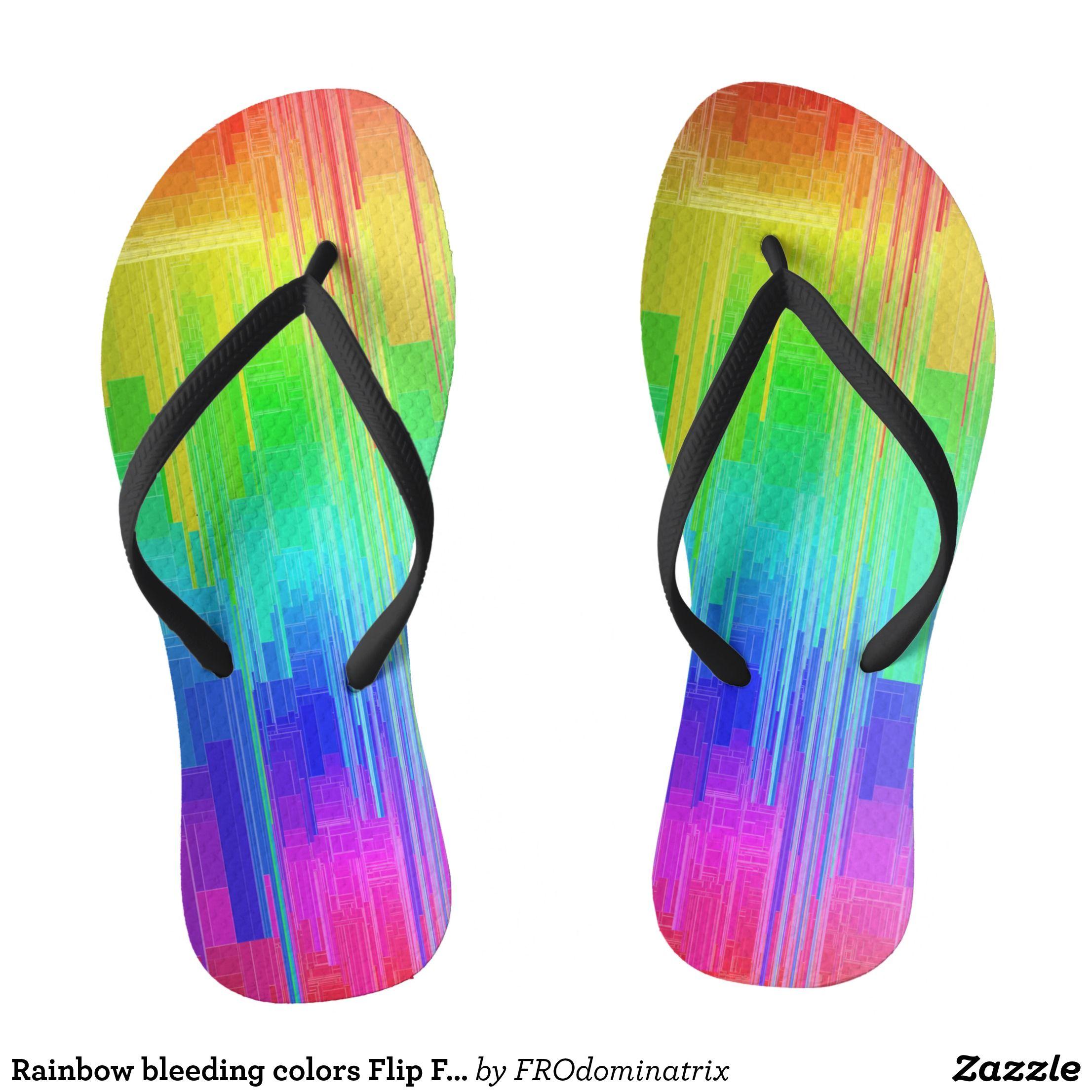 Rainbow LGBT Gay Pride Flag Beach Slippers Sandals Flip Flops