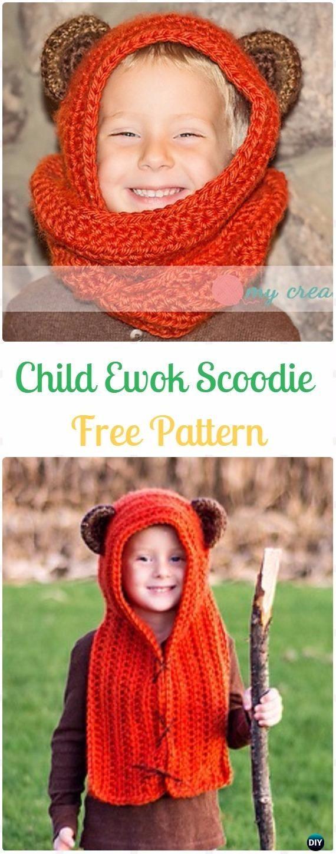 Crochet Hoodie Scarf Scoodie Free Patterns | Crochet hoodie, Crochet ...