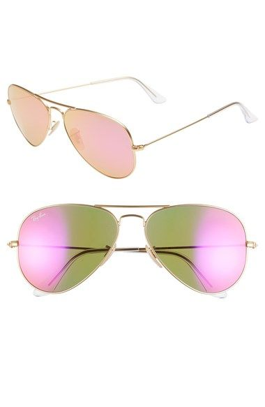 Pink mirrored aviators