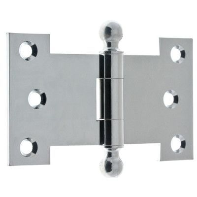 Idh By St. Simons H X W Parliament Pair Door Hinge Finish: Polished Chrome