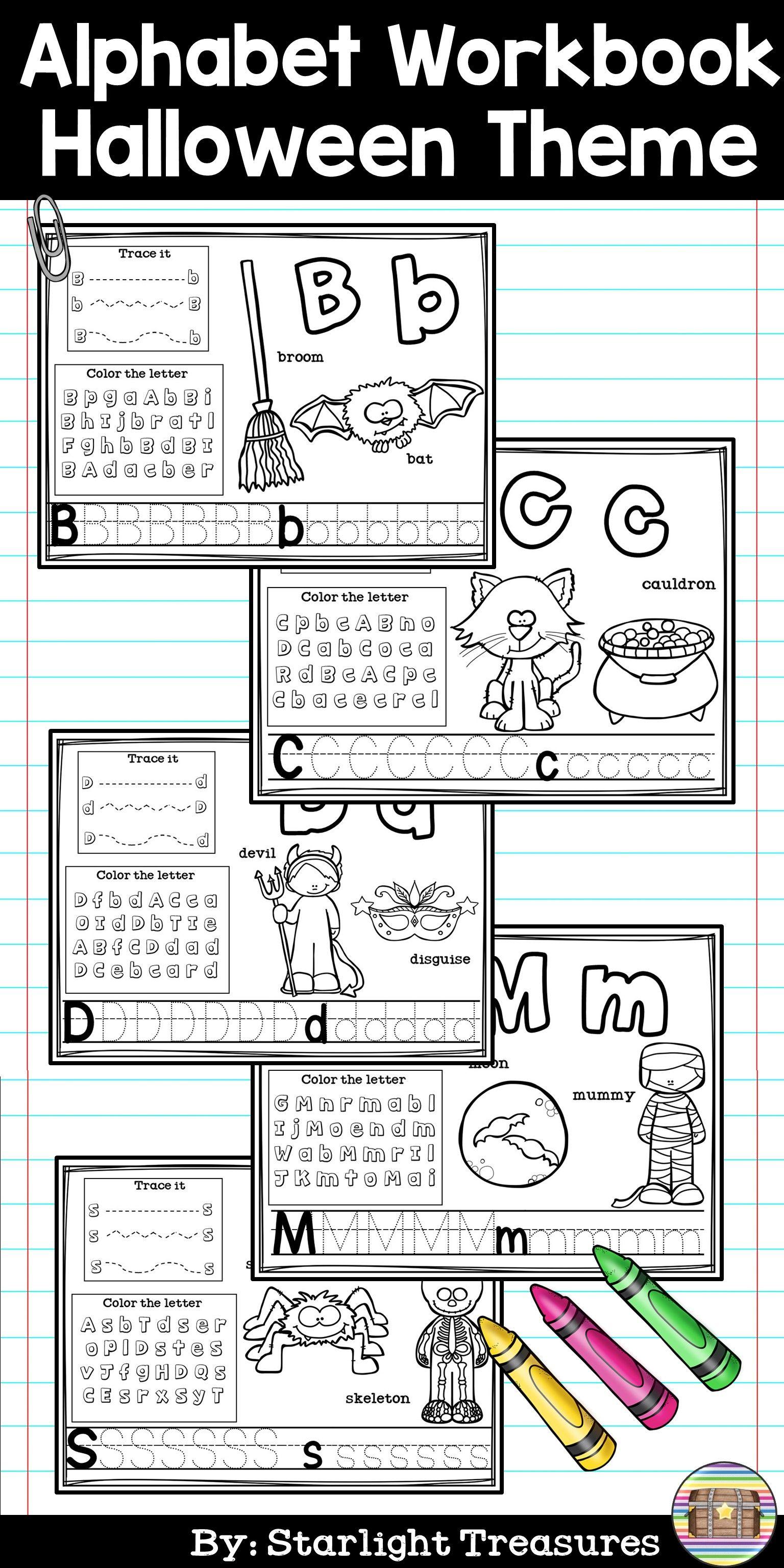 Alphabet Workbook Worksheets A Z Halloween Theme