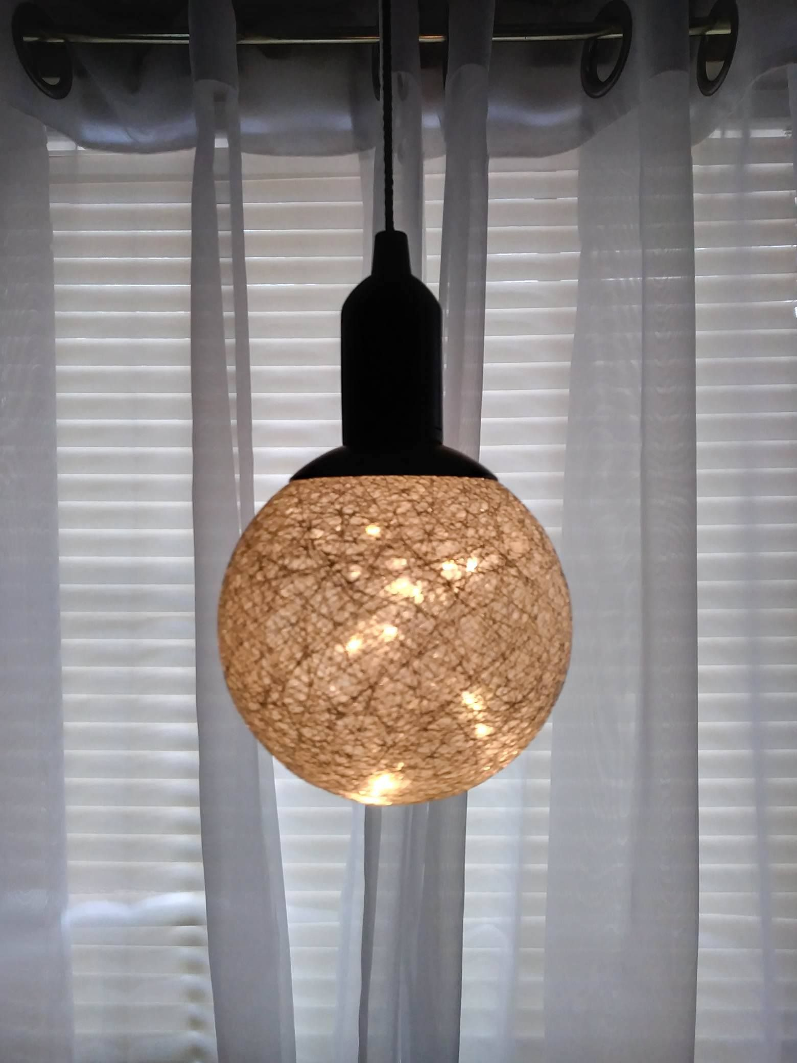 I Got This Really Cute Globe Fairy Led Pendant Lamp Chandelier And I Am Not Entirely Sure Where To Put It Here Are T Pendant Light Globe Lights Pendant Lamp