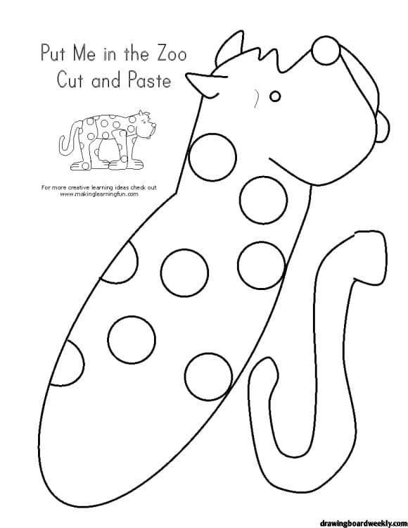 Put Me In The Zoo Coloring Page Spot A Soft Leopard That Can