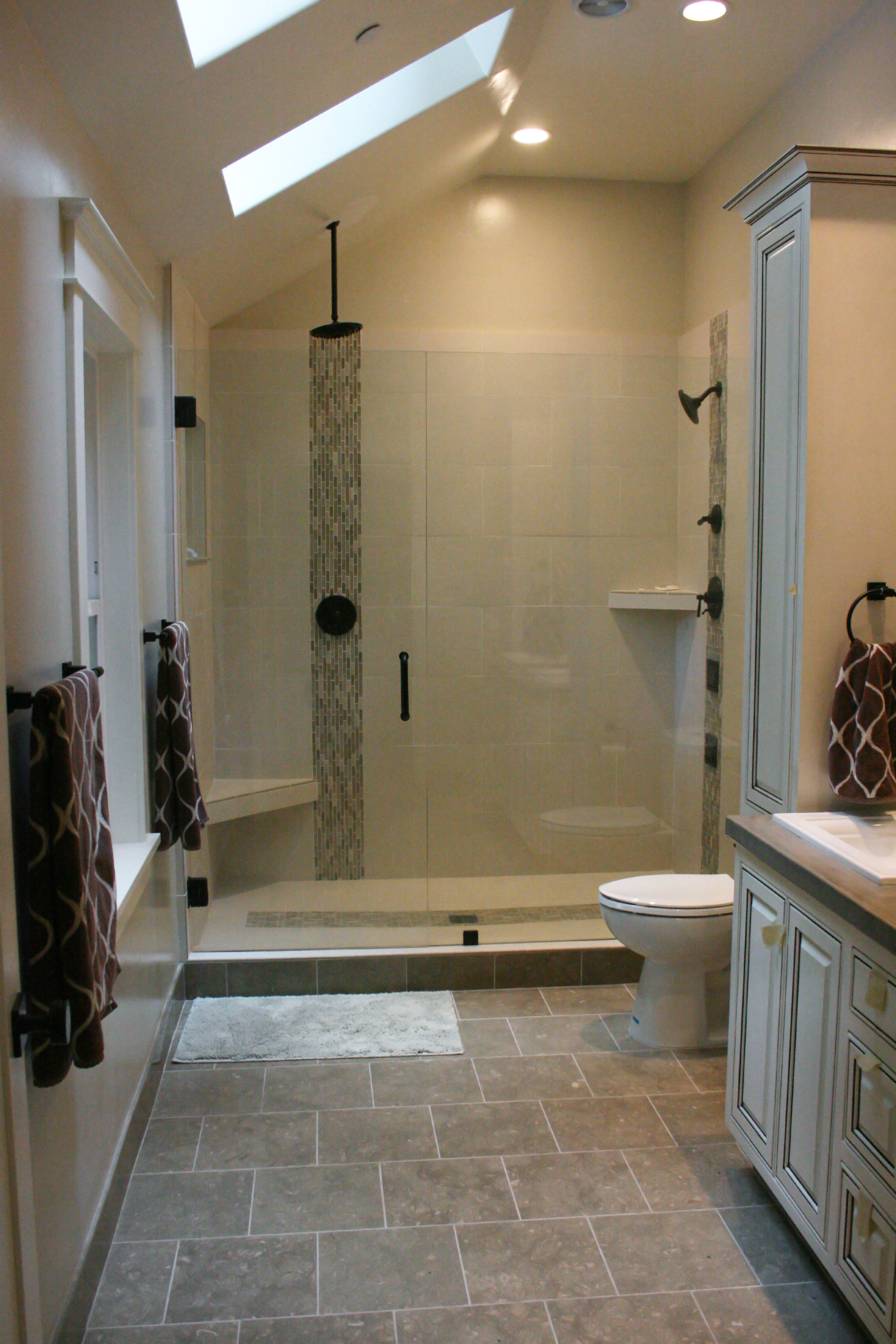 Floor tile layed staggered matching shower tiles and bathroom floor tile layed staggered matching shower tiles and bathroom flooring pinterest shower doors shower tiles and bathroom floor tiles dailygadgetfo Images