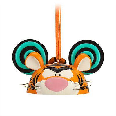 disney christmas tigger ear hat ornament new with tag - Disney Christmas Ears