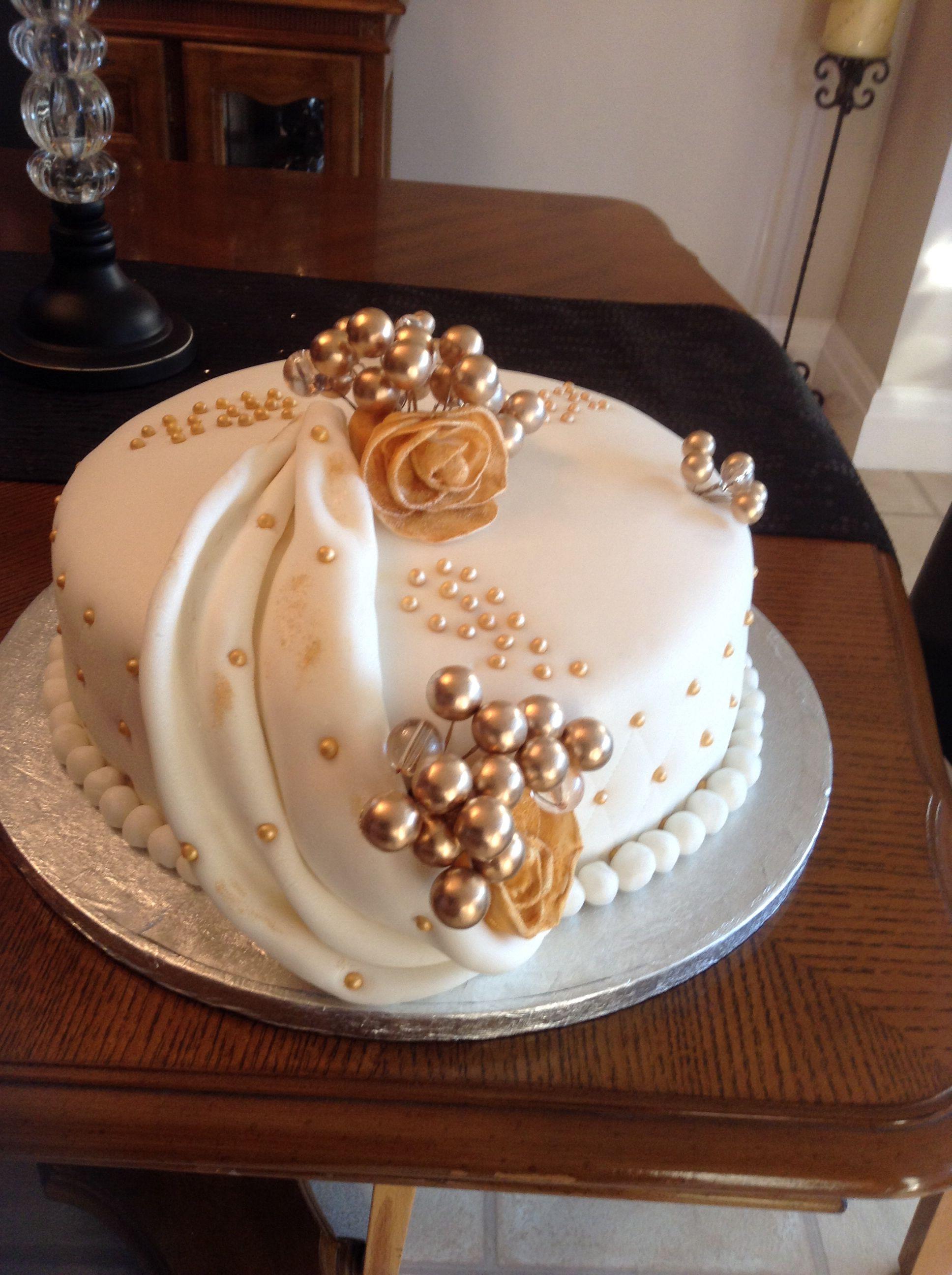 Mum and dads 50th anniversary cake Cake, 50th