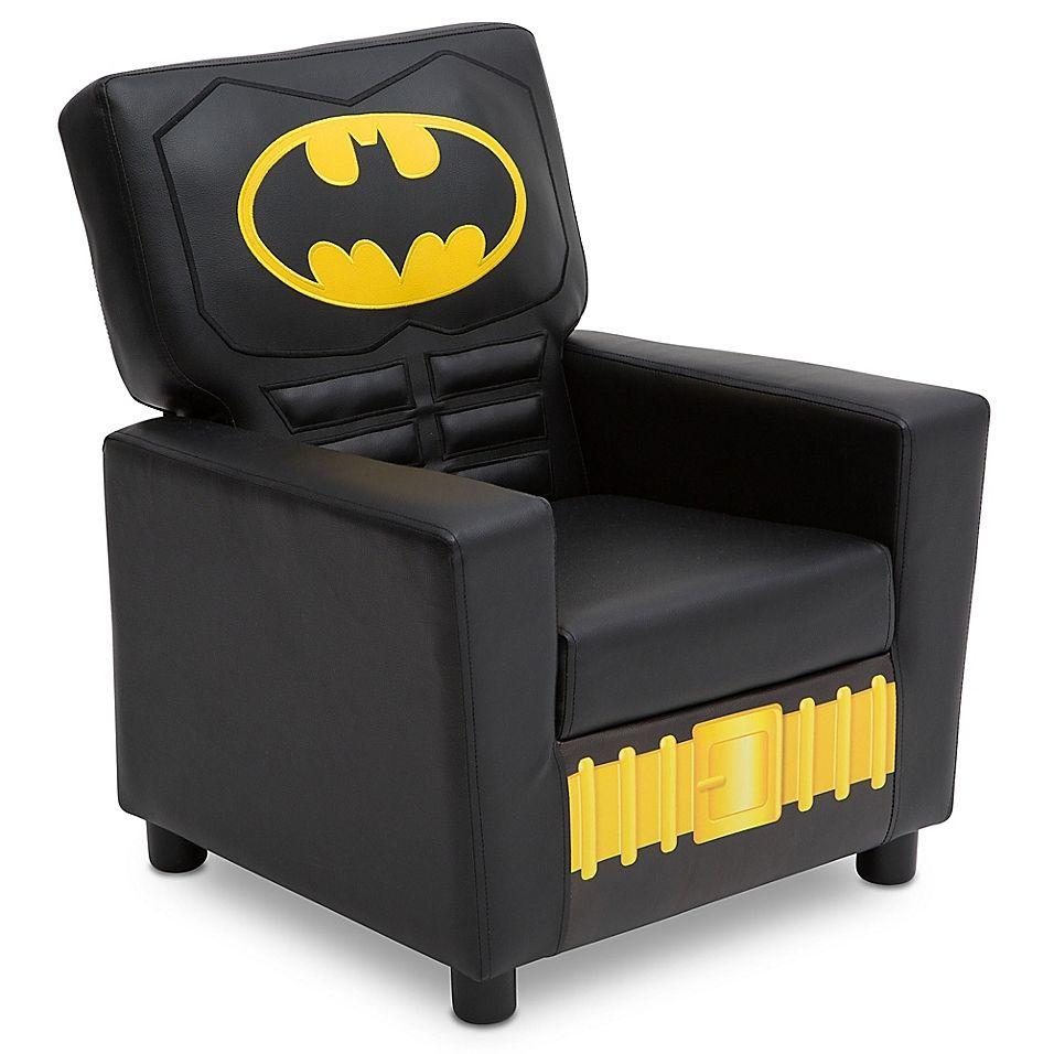 Dc Comics Batman High Back Faux Leather Upholstered Kids Chair