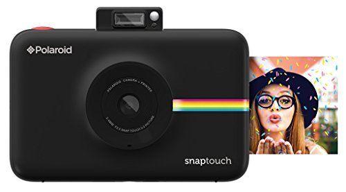 Polaroid Fotocamera Digitale Snap Touch a Stampa Istantanea con Schermo LCD (Nero) e Tecnologia di Stampa Zink Zero Ink