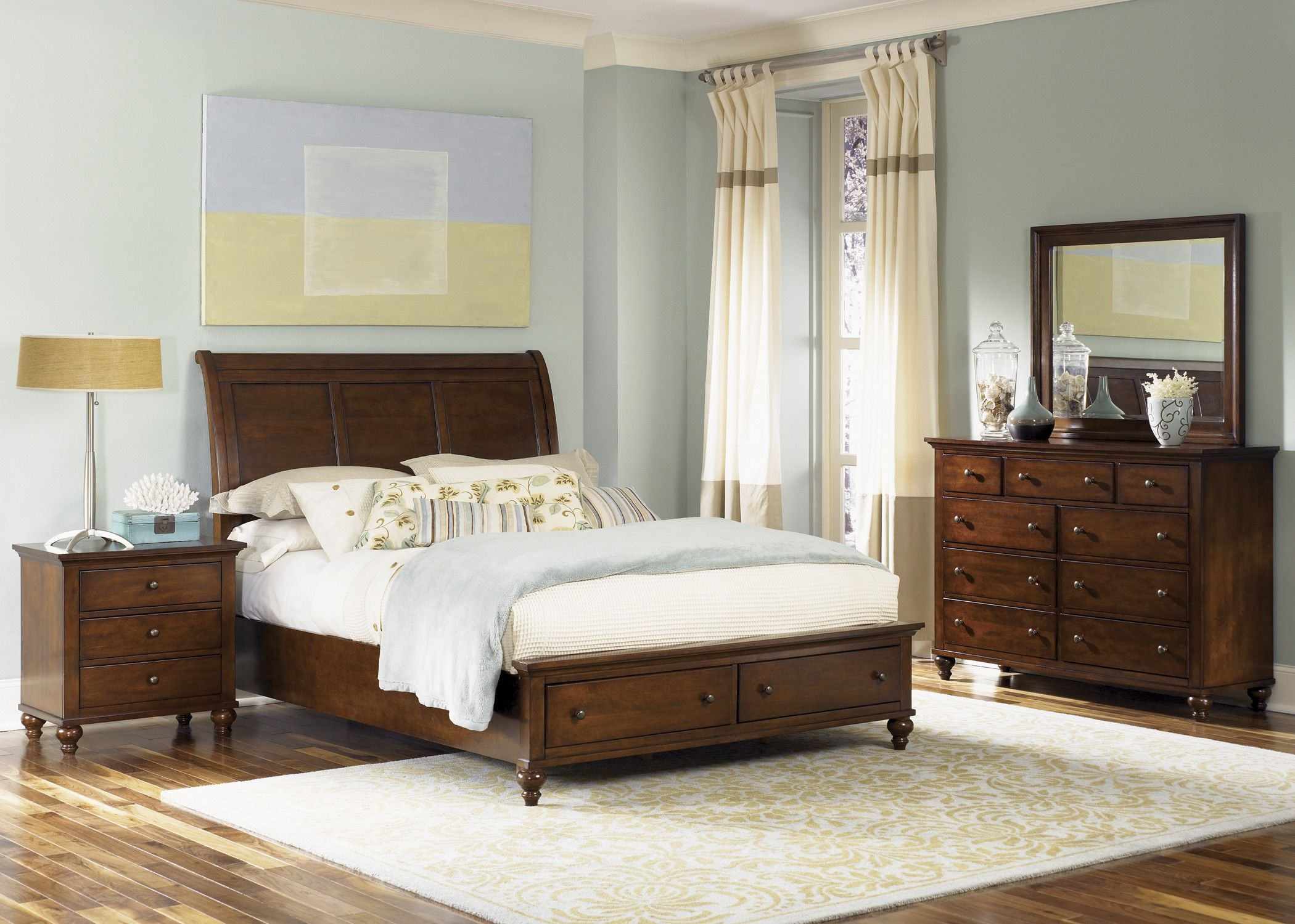 Hamilton King Sleigh Storage Bed Bedroom Furniture Sets Liberty Furniture Bedroom Sets