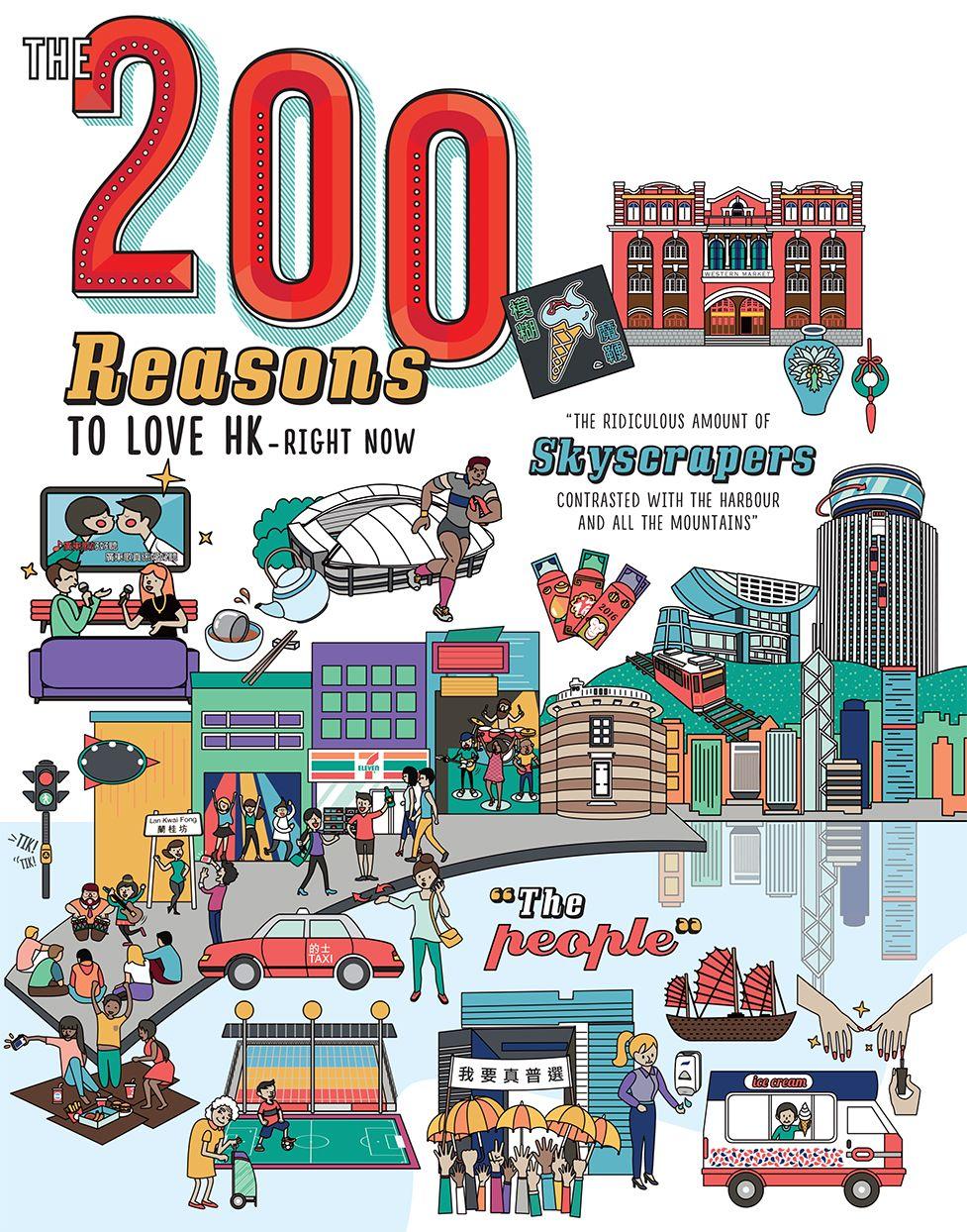 Illustration 200 Reasons To Love Hong Kong Illustration