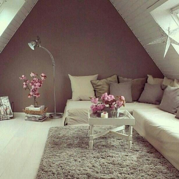 Here is a loft conversion, living room decoration
