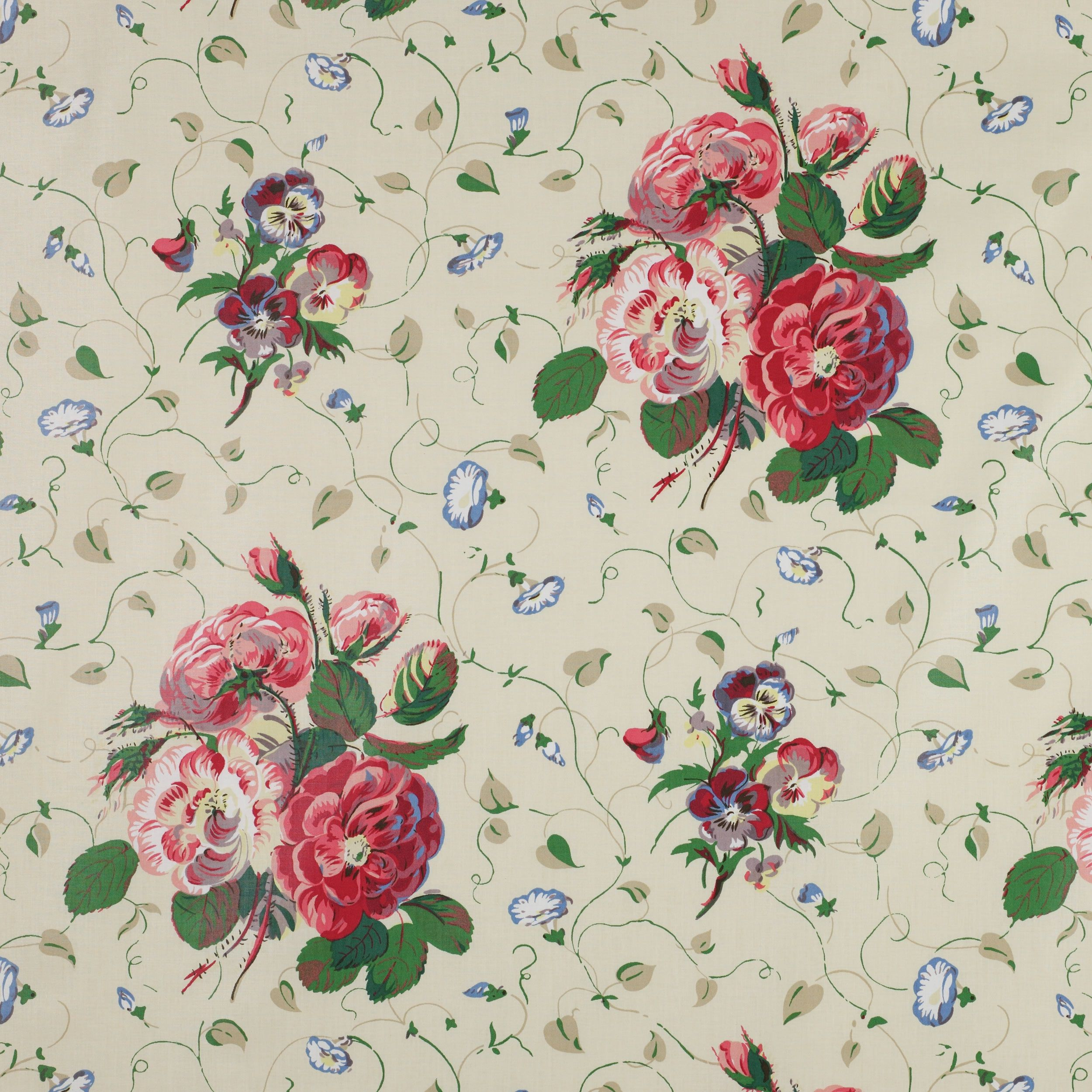 Colefax And Fowler S Roses Pansies Colefaxandfowler Floral Textile Fabric Interiors Design Cowtanandtout Chintz Fabric Fabric Wallpaper Mural Stencil