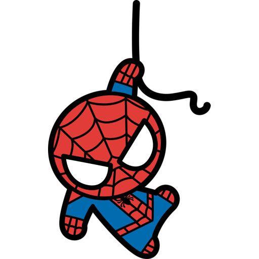kawaii spiderman fathead batman pinterest spiderman kawaii rh pinterest ca Cute Halloween Clip Art Itsy Bitsy Spider Clip Art