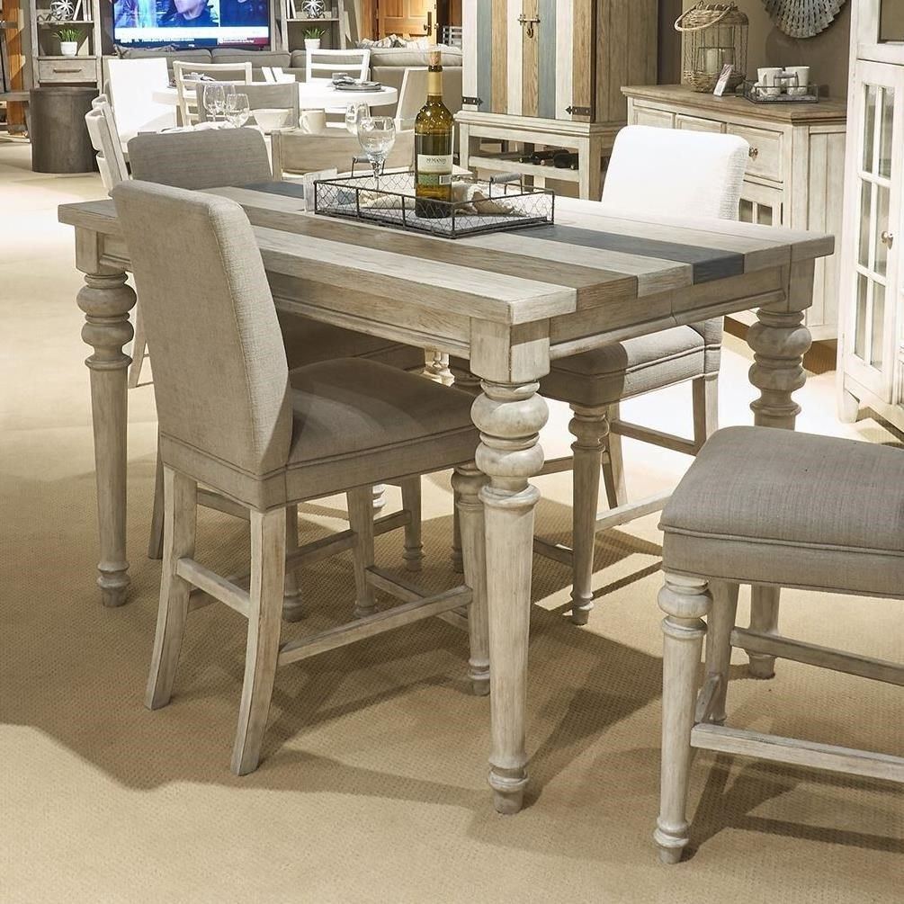Heartland Transitional Counter Height Gathering Table With Leaf By