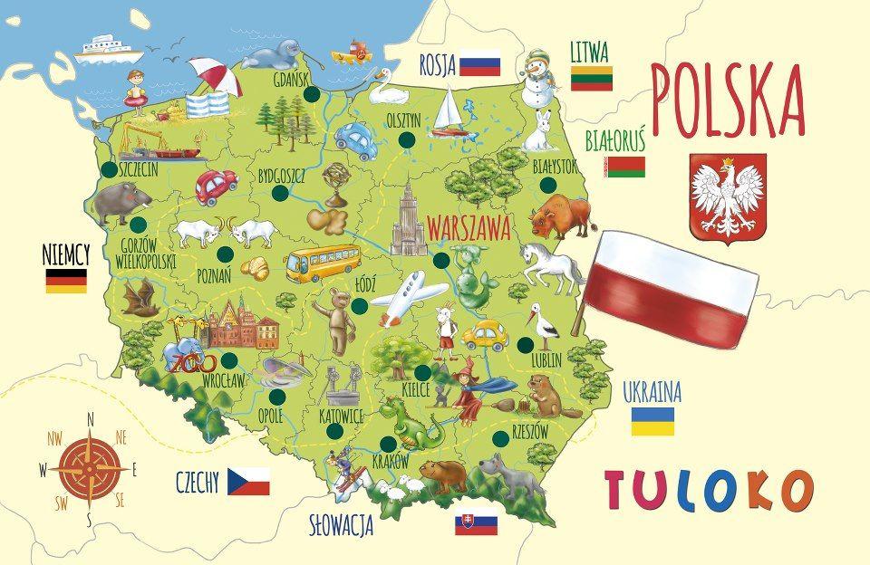 Map Of Poland Symbols