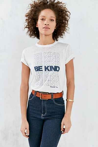 Future State Be Kind Burnout Tee    women's graphic tee    white inspirational t-shirt    how to style a t-shirt #teedesign