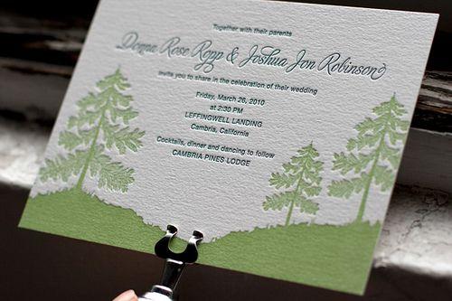Adirondack Letterpress Wedding Invitations by Bella Figura | A ...