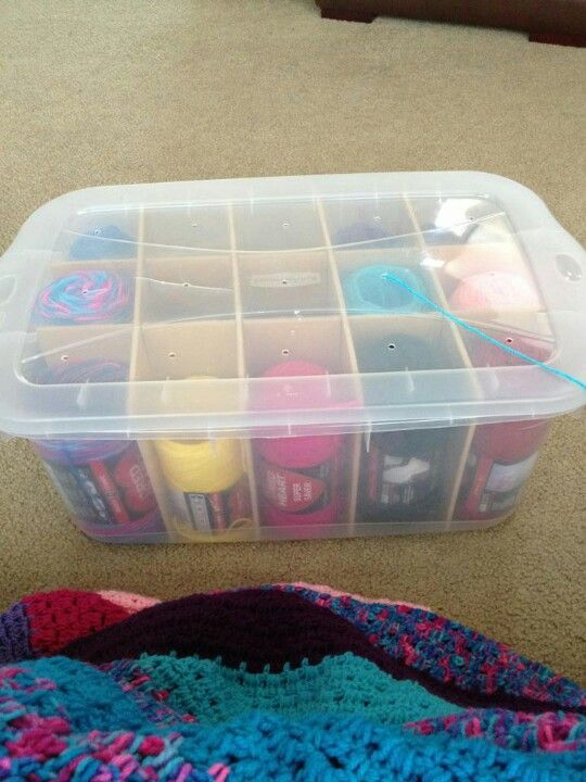 Yarn storage #diyyarnholder