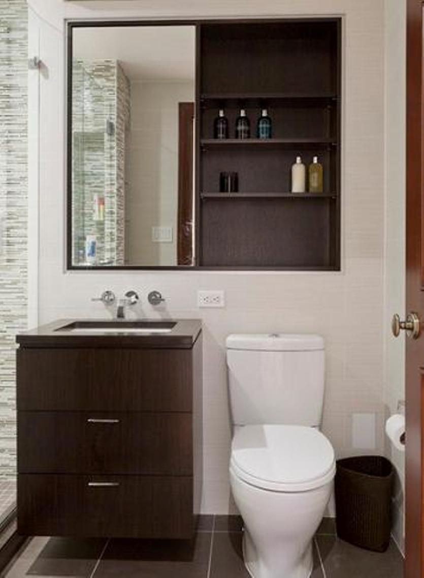 Mirror Over Toilet | ... Wood Bathroom Medicine Cabinets With Sliding Mirror  Over White