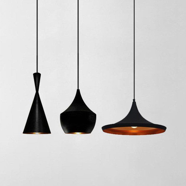 Modern Beat Black Pendant Light #60W #black #ceiling-light ...