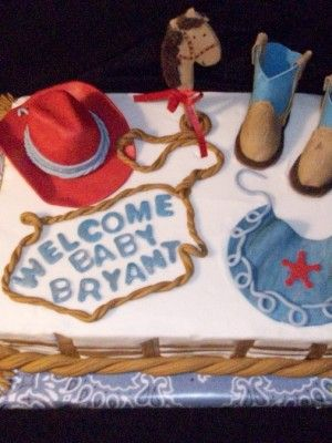 Western Theme Baby Shower | Requested Western Cowboy Theme For Baby Shower.  First Time For