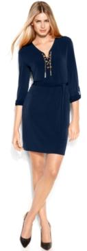 #Michael Kors             #Women                    #MICHAEL #Michael #Kors #Petite #Dress, #Long-Sleeve #Lace-Up #Belted #Shirtdress                       MICHAEL Michael Kors Petite Dress, Long-Sleeve Lace-Up Belted Shirtdress                                http://www.seapai.com/product.aspx?PID=5449594
